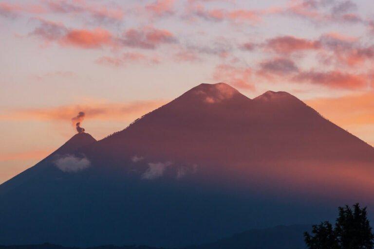 Volcano landscape of Guatemala.