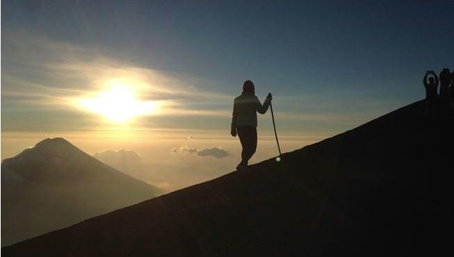 Hiking Volcano Acatenango, Guatemala.